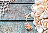 LFEEY 7x5ft Seashells Nautical Theme Photo Booth Backdrop Kids Children Little Seaman Sailor Birthday Party Events Starfish Fishing Net Background for Photography Photo Studio Props