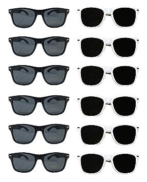 873acd8e7b1e White Black Wayfarer Sunglasses Bulk Wholesale Party Pack-48-24 White 24  Black Premium