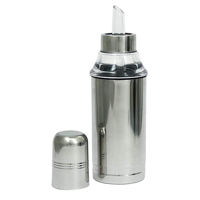 Starnk Oil Dispenser Controlled Cooking Stainless Steel Unbreakable Oil Vinegar Pot Oil Pourer Bottle Olive Oil Container(500ml)