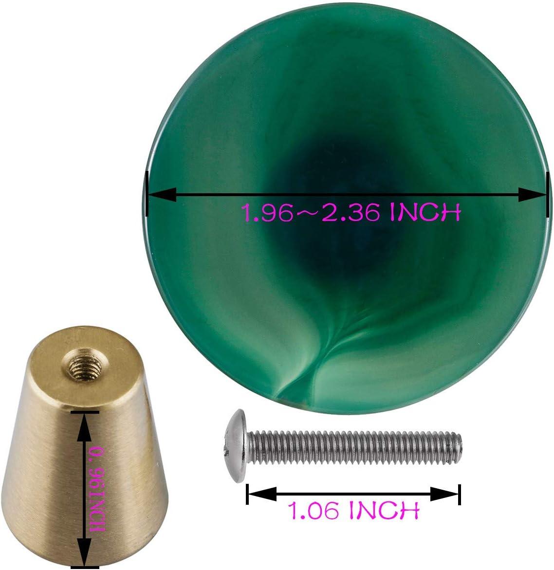 Hueso mookaitedecor di/ámetro: 50 mm Juego de 4 tiradores decorativos para cajones // armarios // puertas