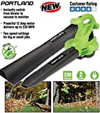 (Ship from USA) PORTLAND 3-In-1 Electric Leaf Blower Vacuum...