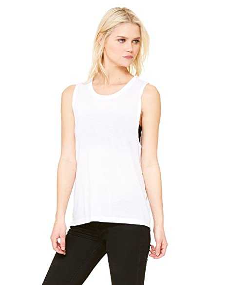 46c82d243 Image Unavailable. Image not available for. Color: Bella + Canvas - Women's  Flowy Scoopneck Muscle Tank ...