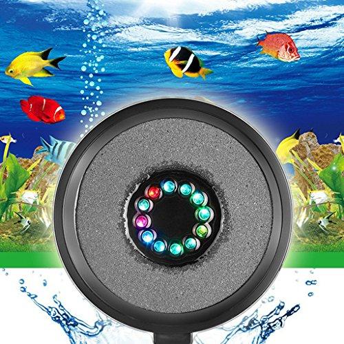 Jili Online US Plug RGB LED Air Curtain Bubble Stone Disk Fish Aquariums Lighting Bulbs by Jili Online (Image #2)
