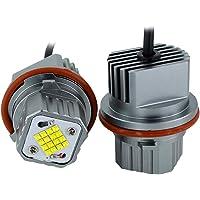 Halo Ring Marker, Angel Eyes Halo 2 Stks 80W Foutloos LED Angel Eyes Marker Lights Lampen Voor BMW E39 E53 E60 E61 E63…