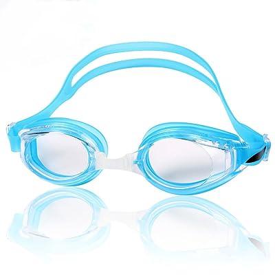 Adulte Hommes Confort Ajustement Natation Antilacération Protection UV Anti-brouillard Triathlon De Natation Lunettes De Plongée Avec