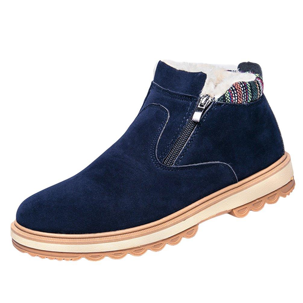 Anguang Herren Winter Stiefel Ankle Boots Warm Winterschuhe Outdoor Schneestiefel Kurz Stiefeletten Schuhe Blau