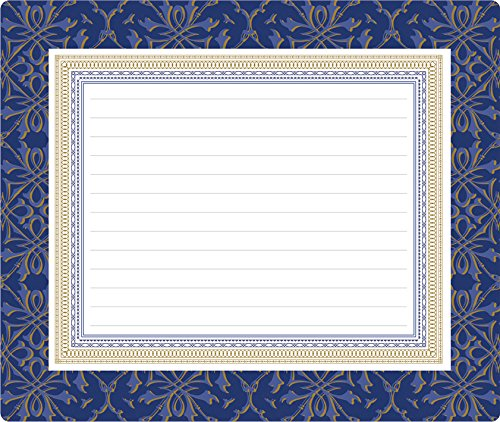 Anna Griffin Navy Collection Mouse Pad Notepad With Foil Accent