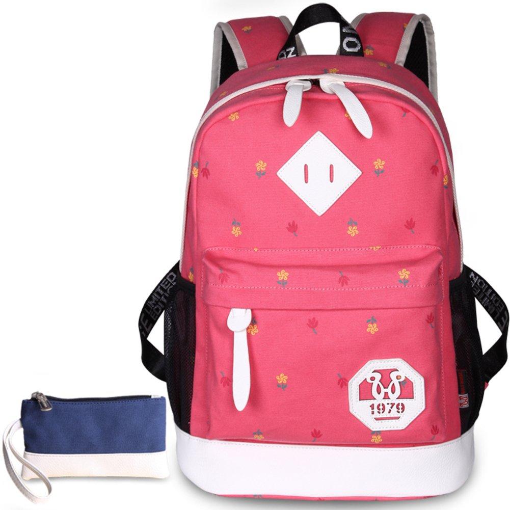 Canvas bag women/Double shoulder bag/School of air leisure travel bags/Student laptop bag-D