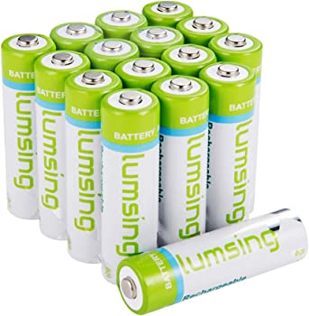 16-Pk Lumsing AA Rechargeable Battery