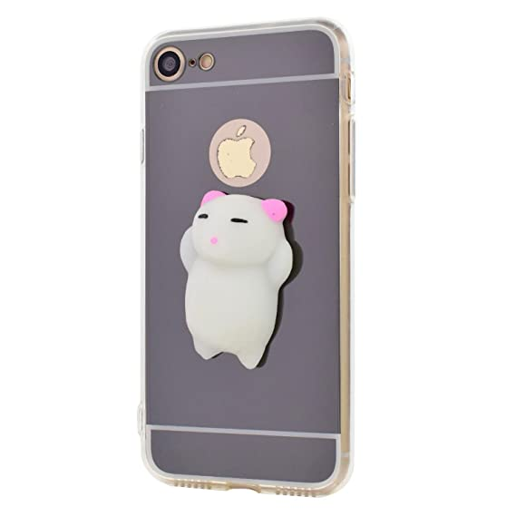 iPhone SE Case, iPhone 5S / 5 Cases, Jonwelsy Squishy 3D Kawaii Cute Cat