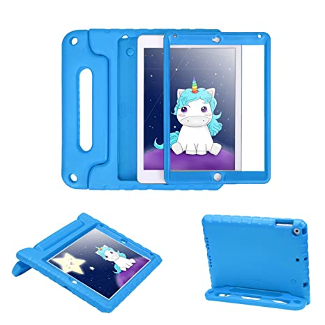 HDE Case for iPad 9.7-inch 2018 / 2017 Kids Shockproof Bumper Hard Cover Handle Stand with Built in Screen Protector for New Apple Education iPad 9.7 ...