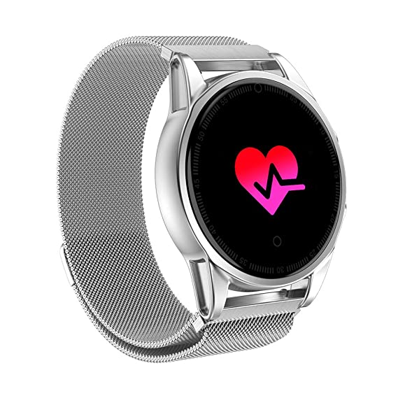 Amazon com: AkoMatial Colorful OLED Screen Heart Rate Blood
