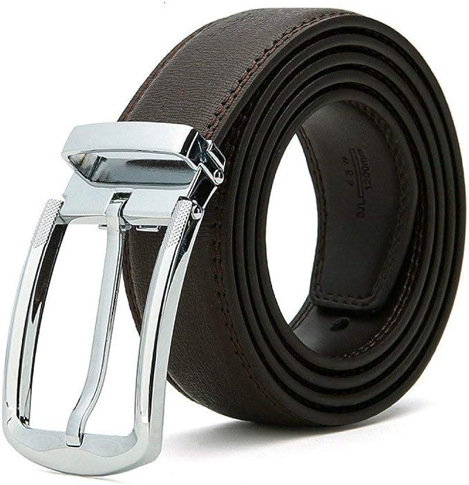 Casual Zinc Modern Black Leather Belt   OJANDMARC STORES
