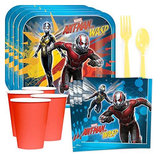 Costume SuperCenter Marvel Ant Man & The Wasp Standard Tableware Kit (Serves 8) ()