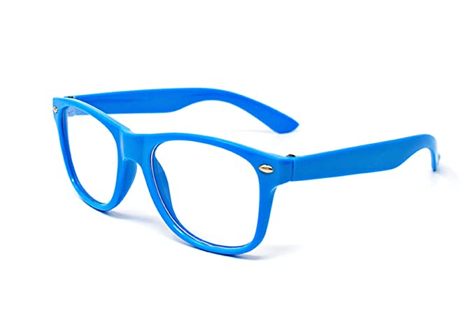 e27a8f36a3e Ultra ® Blue Childrens Classic Style Multi Colour Clear Lens Classic Frames  Perfect for Costumes Parties