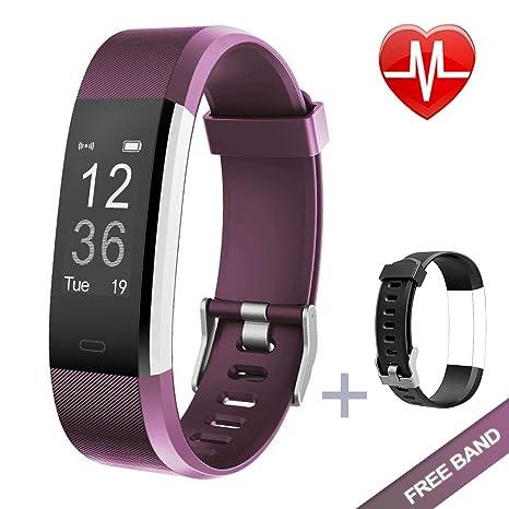 Lintelek Fitness Tracker Fitness Armband Fitness Uhr Schrittzähler Pulsmesser Herzfrequenzgerät Schlafmonitor IP67 Wasserdich