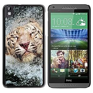 iBinBang / Funda Carcasa Cover Skin Case - Tigre Agua Feliz Piscina África Animal - HTC DESIRE 816