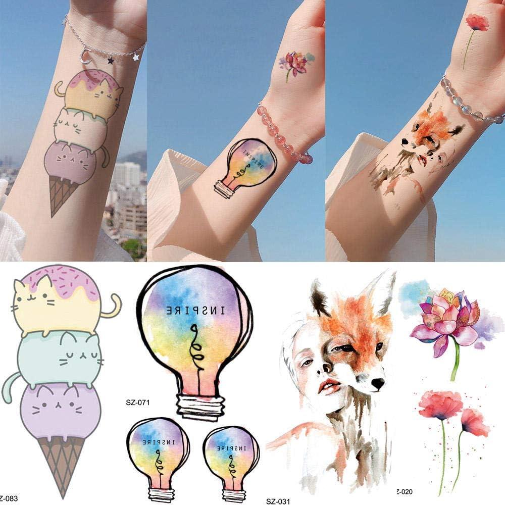 Tatuajes Temporales Coloridos Dibujos Animados Encantadores Niños ...