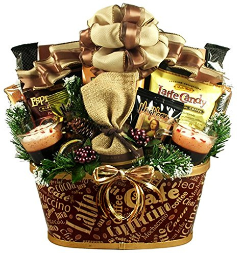 Caffeine Addicts Coffee, Cappuccino and Tea Gift Basket by Gifts to Impress
