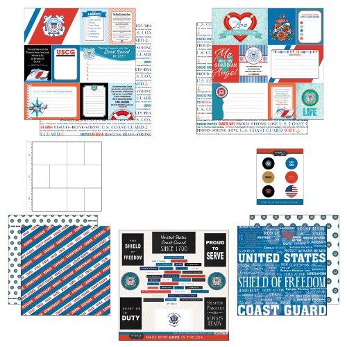 (Scrapbook Customs Themed Paper and Stickers Scrapbook Kit, Coast Guard Journal)