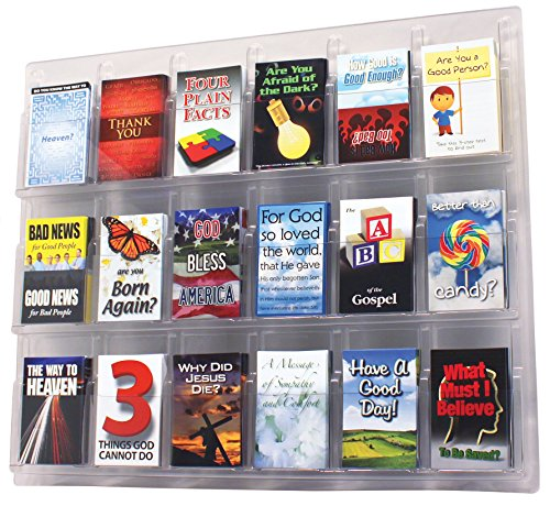 18-Pocket Wall-Mount Tract - Display Tract