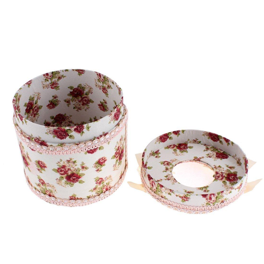 Amazon.com: eDealMax Patrón Flor de Forma Redonda Caso del Tejido cuadro Titular: Home & Kitchen