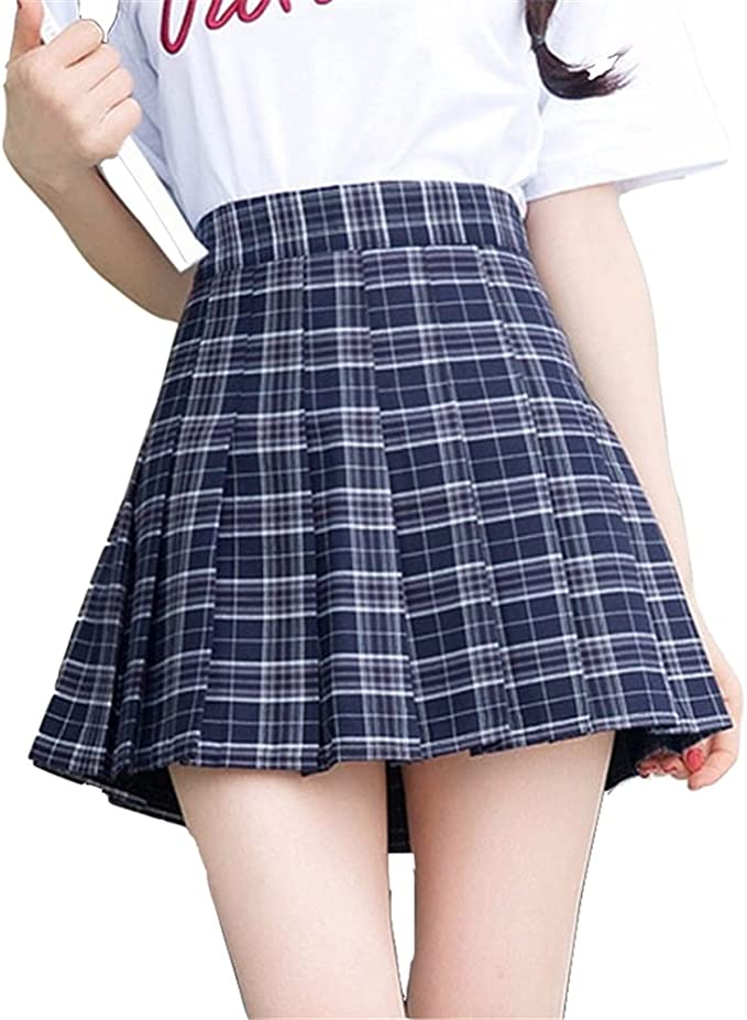 Oudan Faldas Cortas de Colegiala para Mujeres Faldas Mini Faldas ...