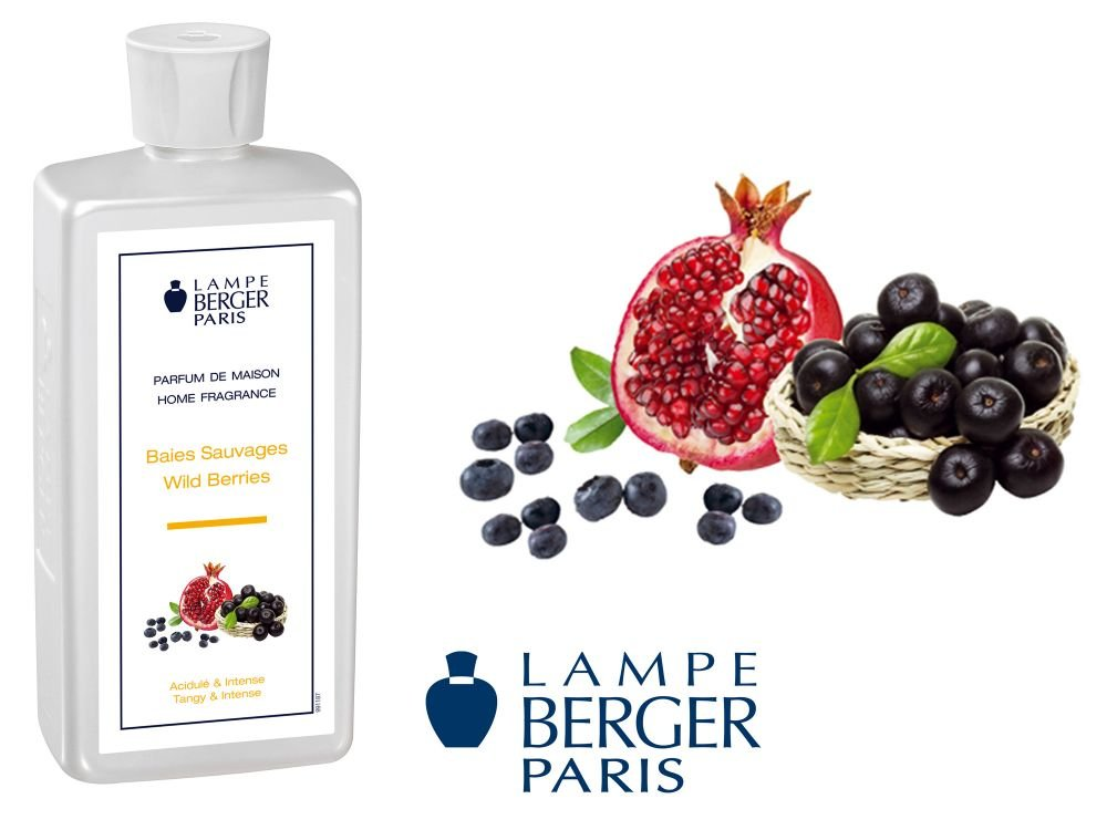 Lampe Berger 115346 Fragranza Frutti di Bosco, Liquido, Argento, 7.8 x 5 x 18.5 cm, 35 Unità