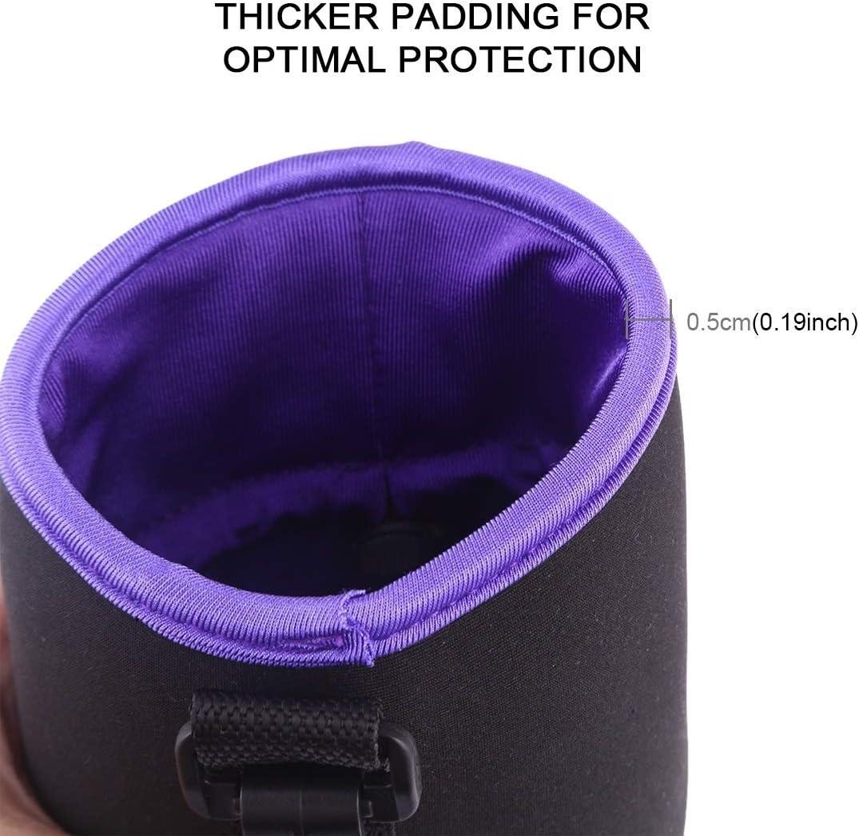 Orange Diameter: 8.5cm Height: 10cm Caofeng lens case Pouch SLR Camera Lens Case Lens Pouch Bag Micro Single Lens Bag Lens Inner Bile Bag Waterproof Soft Protective Case Plus Velvet Thickening