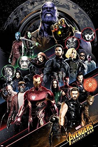 Avengers: Infinity War - Group Diagonal, Poster
