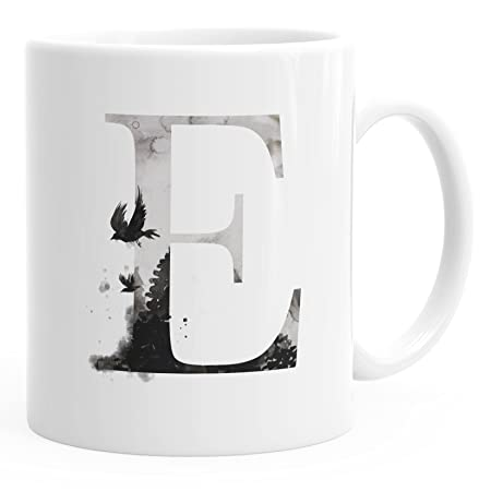Autiga Buchstaben Tasse E Tasse Mit Buchstabe Alphabet Monogramm
