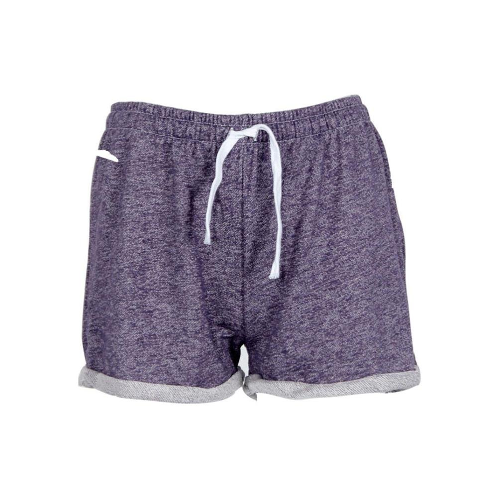BSGSH Women Shorts Casual Athletic Hot Shorts Lounge Sweat Shorts Elastic Waist (S, Purple)