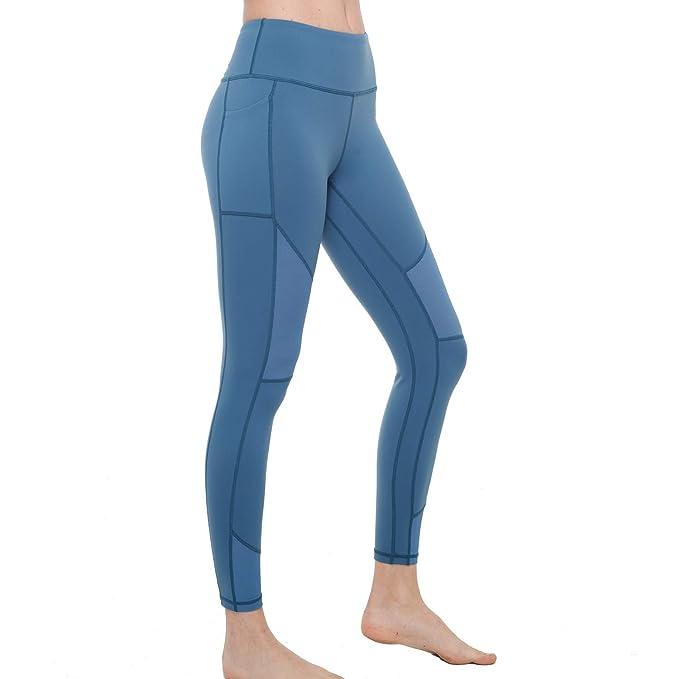 Chikool Women S Mesh Yoga Pants Anti Muffin Top High Waist Workout Leggings Out Pocket