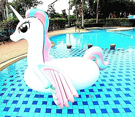 fully inflated SZSH 2017 latest version Giant Inflatable Unicorn Pool Float Swim,Giant size 108inch/×55inch/×82.6inch