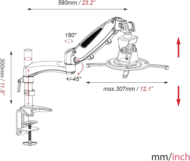 Support mural universel HFTEK Pour projecteur Inclinable et orientable GP1804B