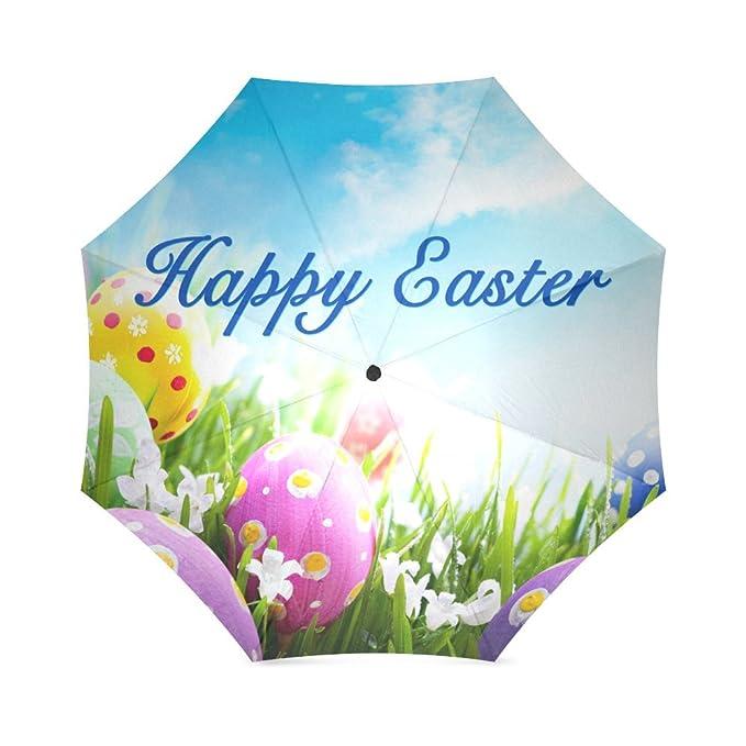 Romatic Regalos del día de San Valentín feliz Pascua, huevos de Pascua, conejo de Pascua 100% tela y aluminio plegable paraguas de alta calidad: Amazon.es: ...