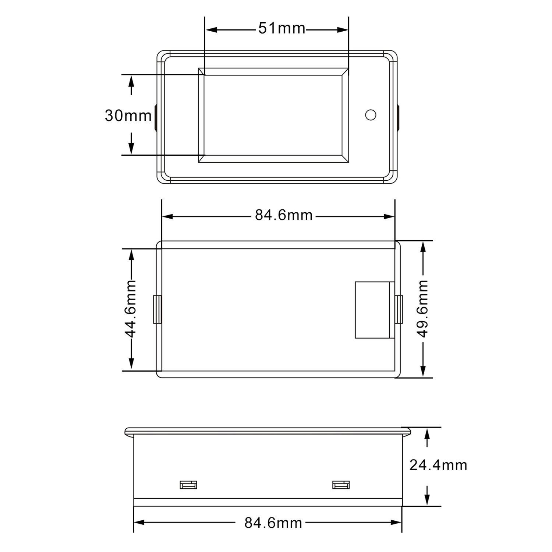 Dc Power Meter Drok Lcd Display Digital Multimeter 65 100v 24v 36v Wiring Voltmeter Box Mod 48v 60v 20a Voltage Current Energy Ammeter Battery Monitor