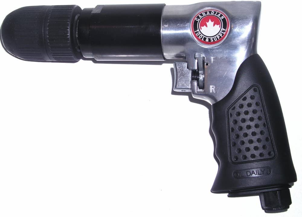 KRAD-12 Canadian Tool and Supply 1//2 Inch Keyless Reversible Air Drill