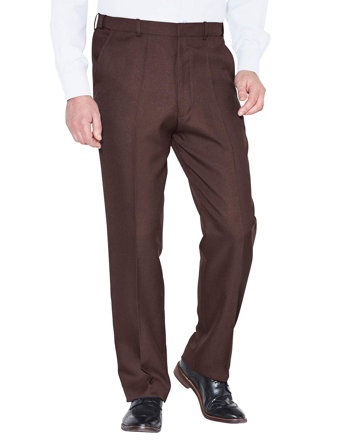 Chums Mens Stretch Waist Formal Smart Work Trousers