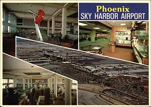 Sky Harbor International Airport Phoenix, Arizona Original Vintage - In Sky Airport Harbor Arizona Phoenix