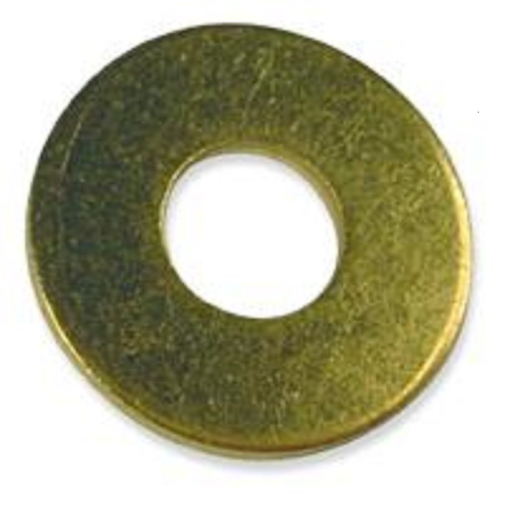 Brass Flat Washer - 3/8'' Small (.392 ID x .875 OD x .062 Thick) Qty-1,000