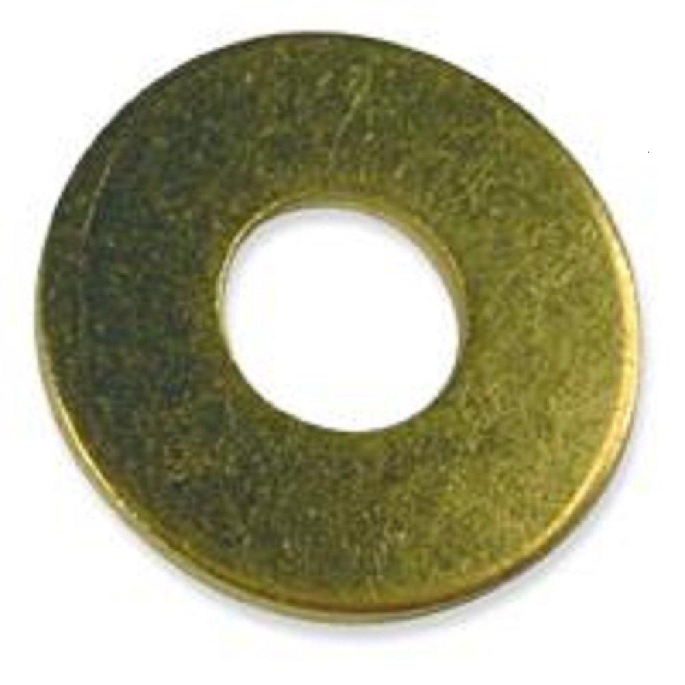 Brass Flat Washer - #8 Large (.172 ID x .437 OD x .036 Thick) Qty-1,000