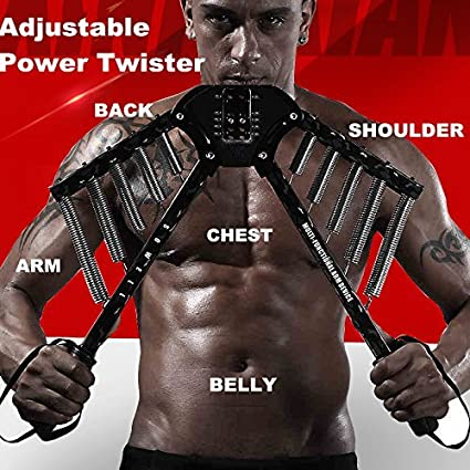 Power Twister Arm Exerciser Home Chest Expander Strength Muscle Trainer Pull New