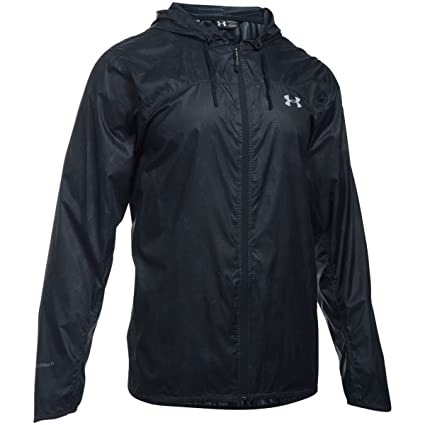 Under Armour UA Leeward Windbreaker Chaqueta Deportiva, Hombre, Negro (Black), XXL