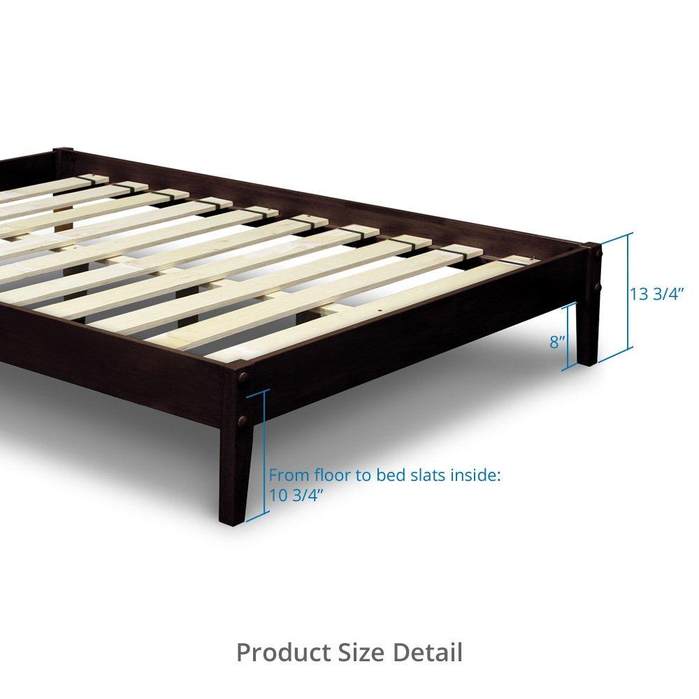 Japanese platform beds for sale - Amazon Com Best Price Mattress Solid Hardwood Platform Bed Queen Chocolate Kitchen Dining