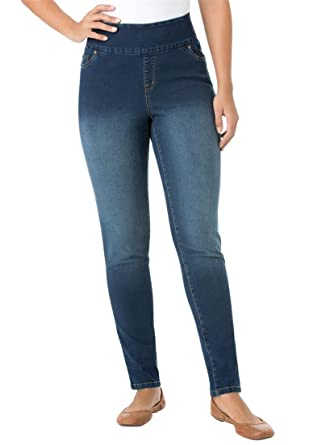 Women's Plus Size Smooth Waist Petite Skinny Jeans at Amazon ...