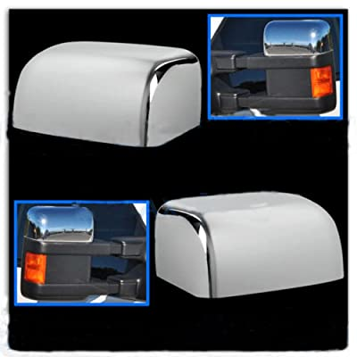 PerfecTech Super Duty Chrome Plated Mirror Covers Ultra Durable Top Half for 2008-2016 Ford F250 F350 F450(2 Pcs): Automotive