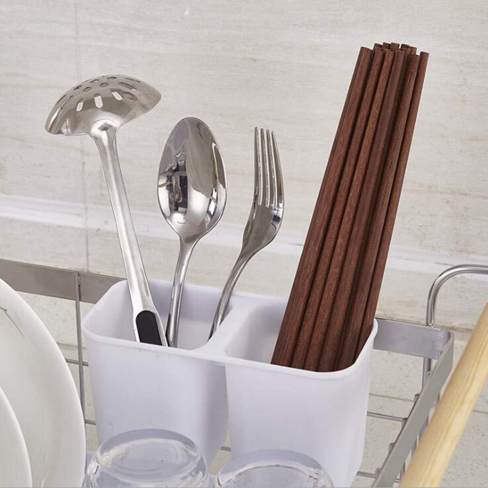 MOOMDDY Estante de Drenaje de Plato con con con Madera portátil de Acero Inoxidable Cocina Cubiertos Estante de Secado 44   31   21 cm, 3 cedc59