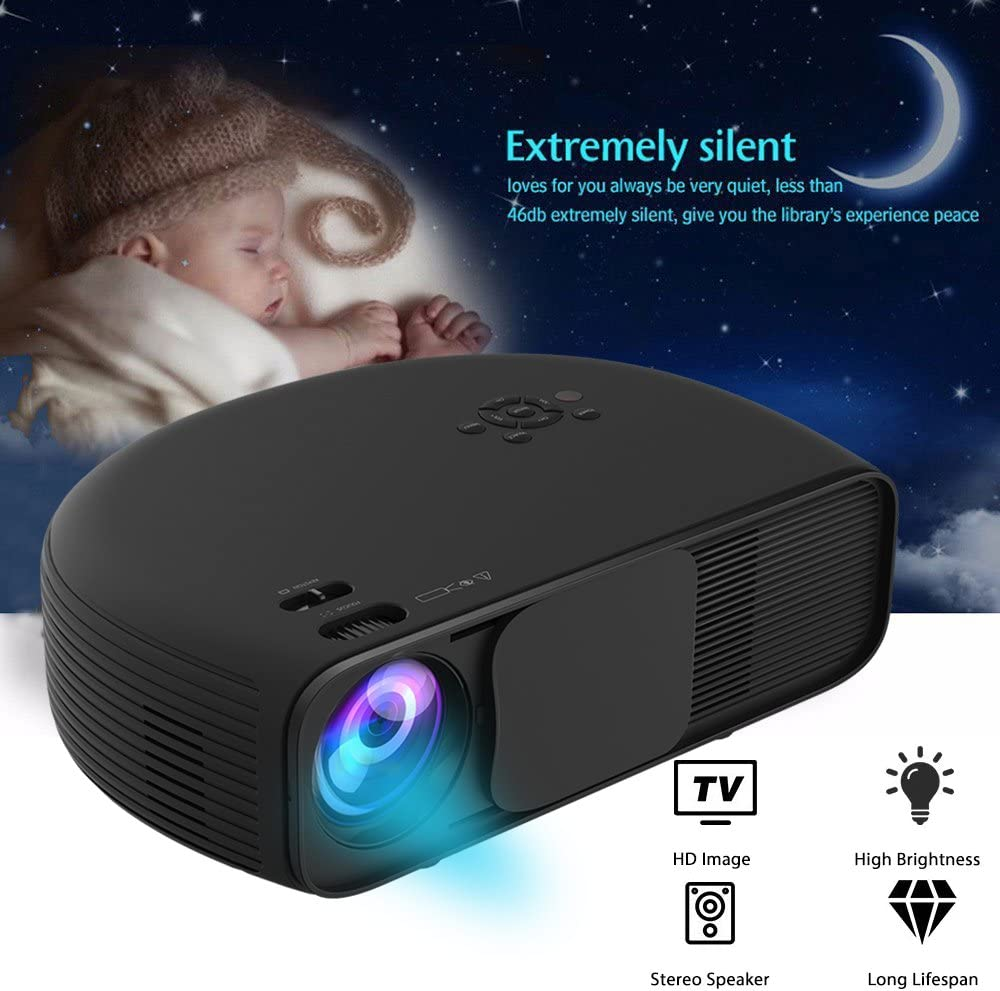 vprawls LED Mini proyector de vídeo Soporte Full HD Portable ...