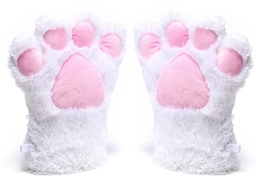 Odema Womens Winter Warm Gloves Cosplay Cat Paw All Cover Mittens